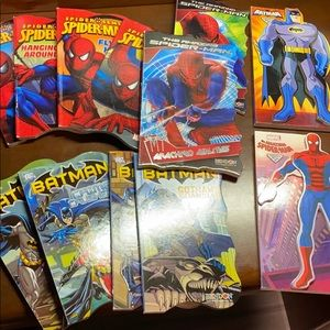 12 Spider-Man and Batman books